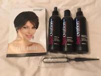 Wig shampoo, conditioner, fibre oil & brush UNUSED