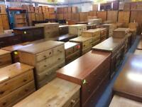 Quality used solid wood / pine chest of drawers