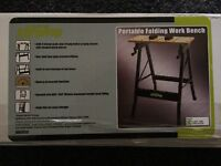 Portable folding work bench £10