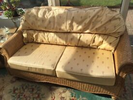 Conservatory 3 seater cane settee (free)