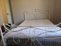 Double bed White metal