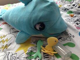 Blu Blu baby dolphin interactive toy baby kids boys girls