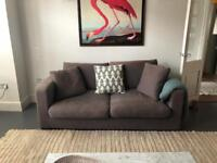 Two Large 3 seater Grey Sofas £370