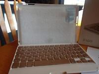 Hinged keyboard folio for iPad mini