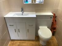 Vanity sink unit and toilet units complete