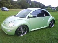 "@@ STUNNING CUSTOM SHOW CAR VW BEETLE,1 YEAR MOT,LADY OWNED,19""ALLOYS,LOWERED,TINTS,SPOILER,"