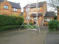 Diy scaffolding tower for hire,3 5 6 or 7 meters working hight.