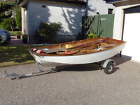 Mirror Sailing Dinghy Number 33312 complete with road trailer.