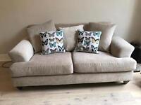 Next Home 3 Seater Sofa - Silver Cream (chenille fabric)