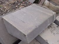 LARGE ANGLED TAPERED GRANITE CURB STONES (£25 + VAT EACH) 600 x 380 x 240mm