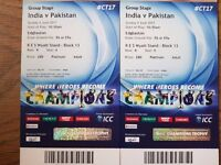 INDIA VS PAKISTAN 4th June'17 ICC Champion Trophy, 2 x Platinum Tickets , RES Wyatt STD