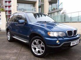2001 BMW X5 3L M SPORT,LOVELY CONDITION.LA MANS EDITION BLUE,ELEC LEATHER,HIDS,TINTS,MOT JULY 2018