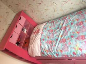 Kids bed with draws
