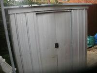 "metal garden shed 60"" w 40"" d 65"" tall"