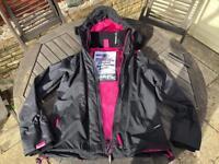 Ladies Superdry Technical Hooded Windcheater Jacket Size Medium