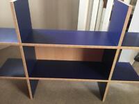 IKEA shelving x 2 blue