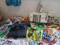 Xbox 360 with games and kinect