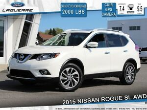 2015 Nissan Rogue SL**TECH*AWD*CUIR*TOIT*GPS*CAMERA**BLUETOOTH*A