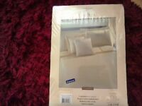 Gold bedding set with curtains