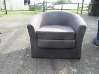 FIVE BUCKET ARMCHAIRS GREY FABRIC SILLY PRICE TO CLEAR