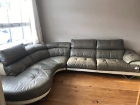 Large corner sofa and cuddle seat