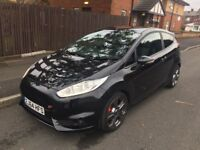 2014 64 plate Ford Fiesta ST-3 182 bhp Turbo Sat Nav Panther Black top spec very low mileage