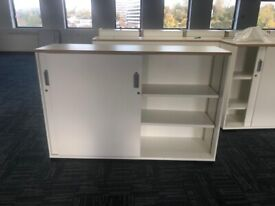 office furniture white sliding door cupboard