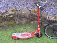 razor electric scooter e 100