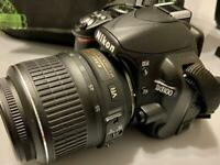 Nikon DSLR camera with accessories