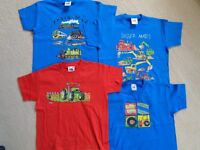 BOYS T-SHIRTS Some are unworn, various ages, M&S or Design, Fruit of the Loom, etc. To clear £1 each