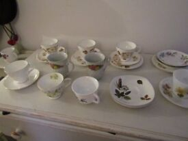 VINTAGE CUPS AND SAUCERS