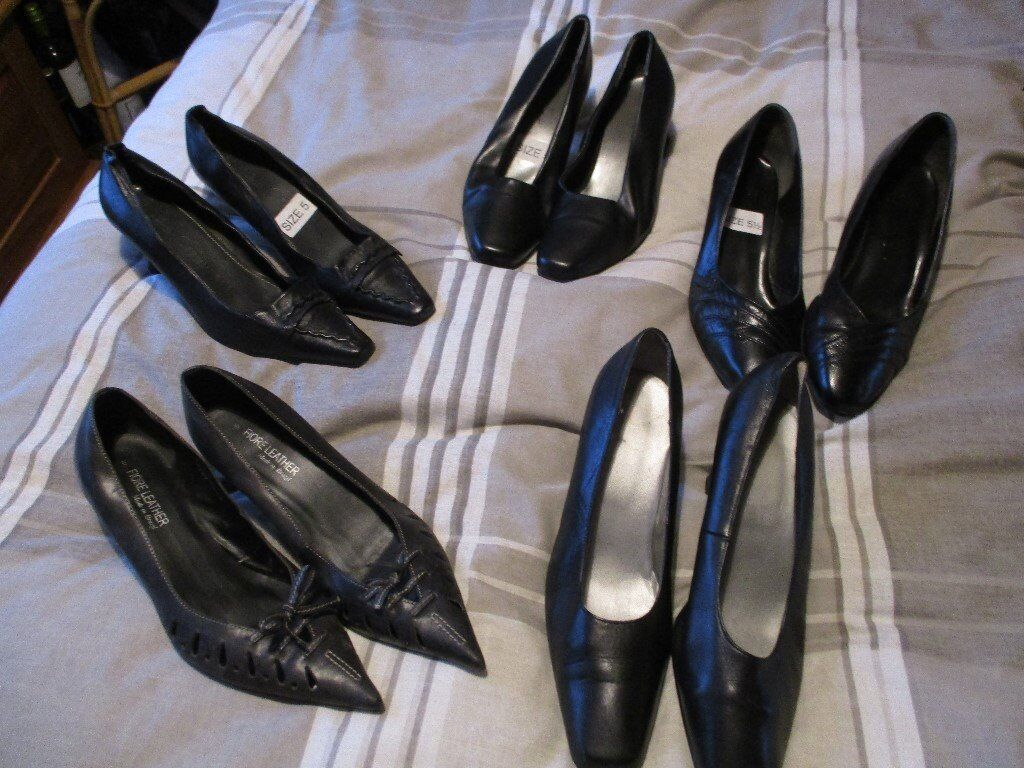 5 pairs shoes – Size 5 & 5.5 - £5.00 the Lot