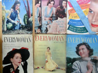 Bulk lot of 1950s Everywoman magazines
