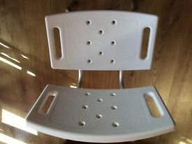 Shower chair - adjustable, sturdy chair. £15