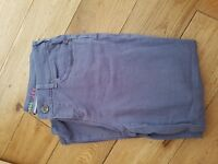 As new condition Lilac / purple White Stuff cut off jeans, size 12