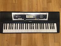 Yamaha YPT 210 Electronic Keyboard, Power Supply, Sustain Pedal. Excellent Condition
