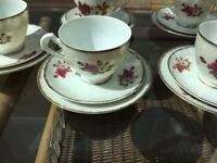 China tea set x 6 cups, saucers & side plates.