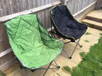 2x camping chairs
