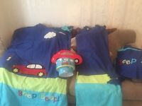 Children's 3 matching bed sets, black out curtains & accessories matching excellent condition!!!!