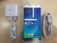 SAMSUNG NOTE 5 GOLD/ UNLOCKED / 32 GB / VISIT MY SHOP/ .NEW COND. /1 YEAR WARRANTY + RECEIPT