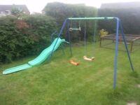 Children's Swing and Slide Set