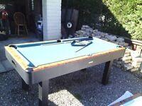 6ft x 3ft pool /air hockey table