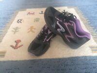 Black/Purple trainers