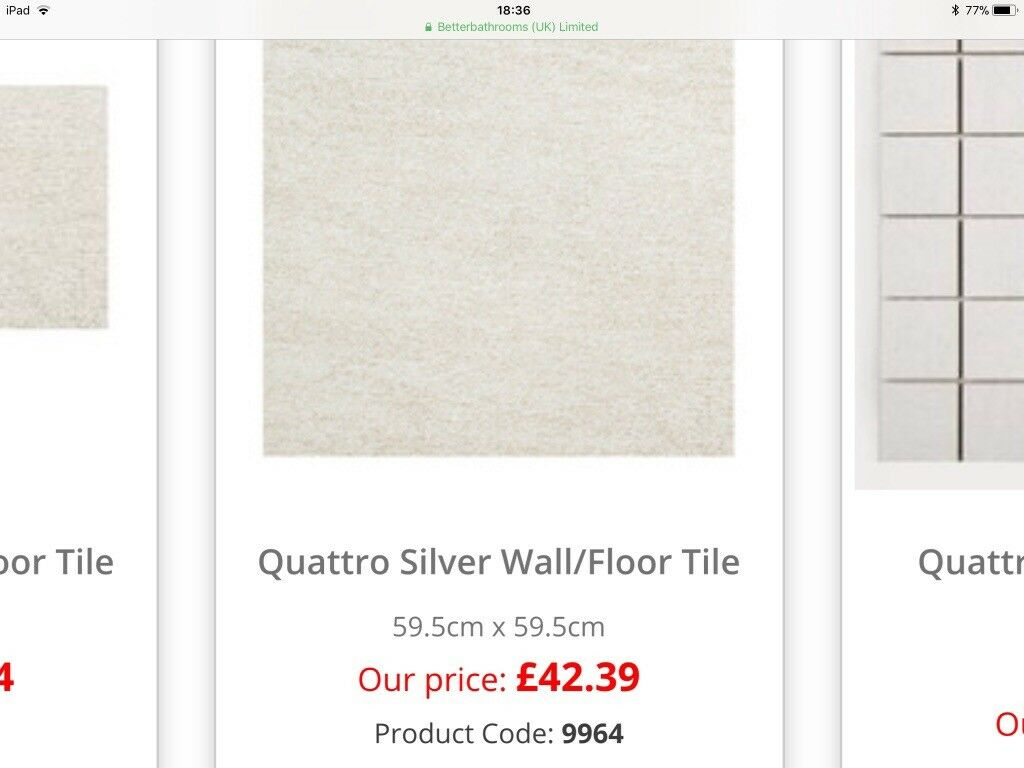 Porcelain floor tiles from better bathrooms 4 square m new and porcelain floor tiles from better bathrooms 4 square m new and boxed dailygadgetfo Images
