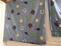 Laura Ashley Cowboy themed curtains