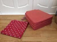 4 x ikea seat pads and oil cloth table cloth (dunelm)