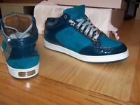 ladies jimmy choo trainer miami suede patent size 36 UK 3 excellent