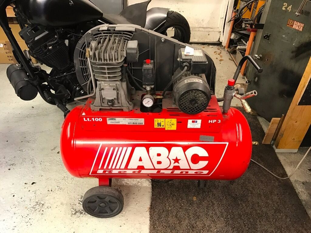 Abac Redline 230V 100ltr Belt Driven Compressorin Inverness, HighlandGumtree - Abac Redline 230V 100ltr belt driven air compressor Fully working, only used for home workshop use Variety of 25mm air hoses, flexi hoses and air tools available for an extra £30 Collection from Drakies