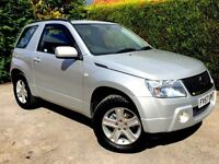 **1 PREV OWNER** 2007 SUZUKI GRAND VITARA 1.6 VVT SILVER PETROL 3 DOOR MANUAL