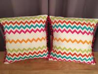 Multi coloured cushions - Excellent condition